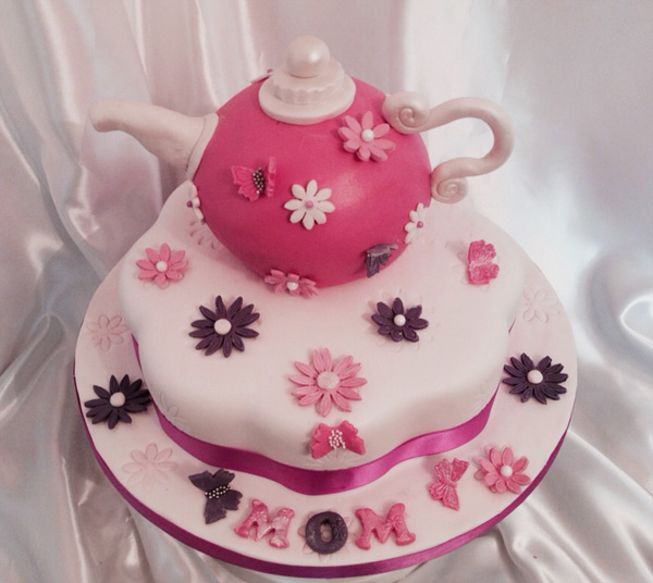 Swell Mom Teapot Birthday Cake Sensational Cakes Personalised Birthday Cards Cominlily Jamesorg