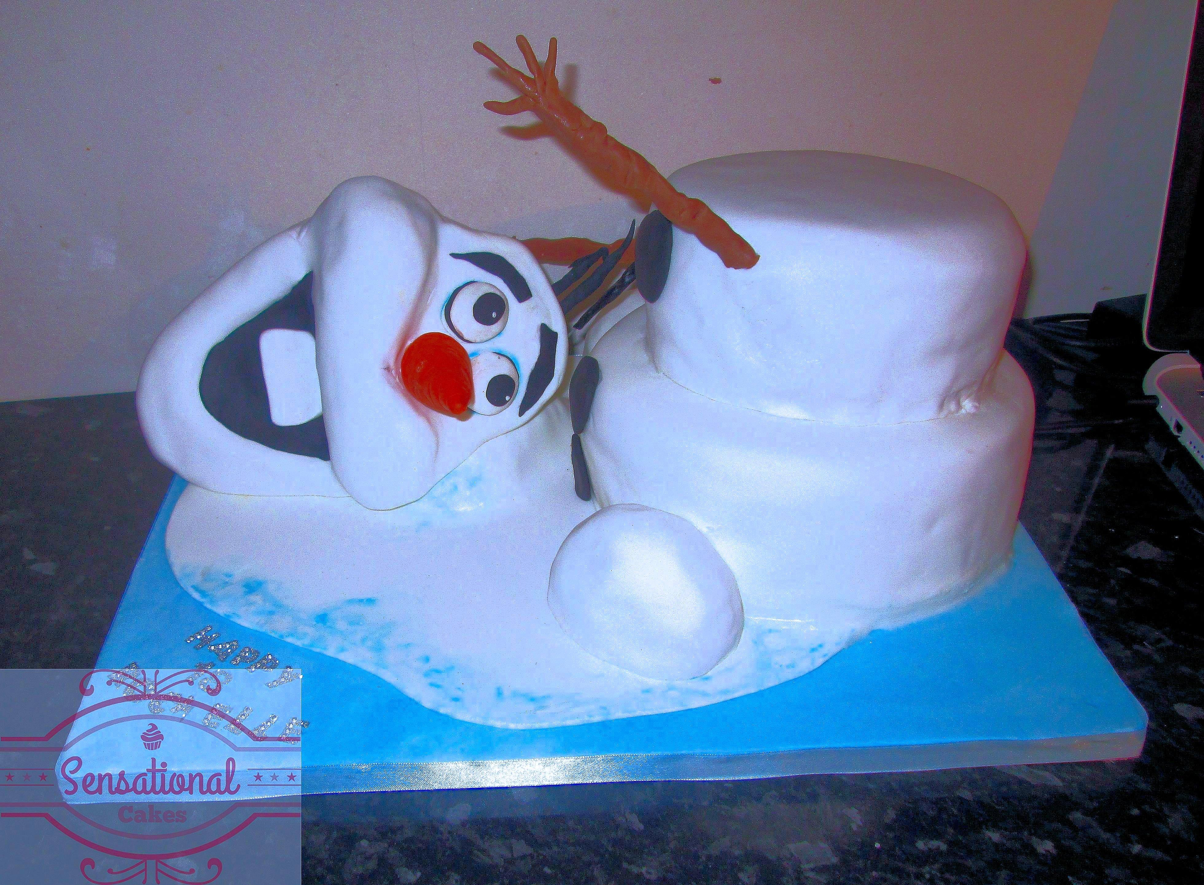 Awe Inspiring Olaf Frozen Cake Sensational Cakes Personalised Birthday Cards Sponlily Jamesorg