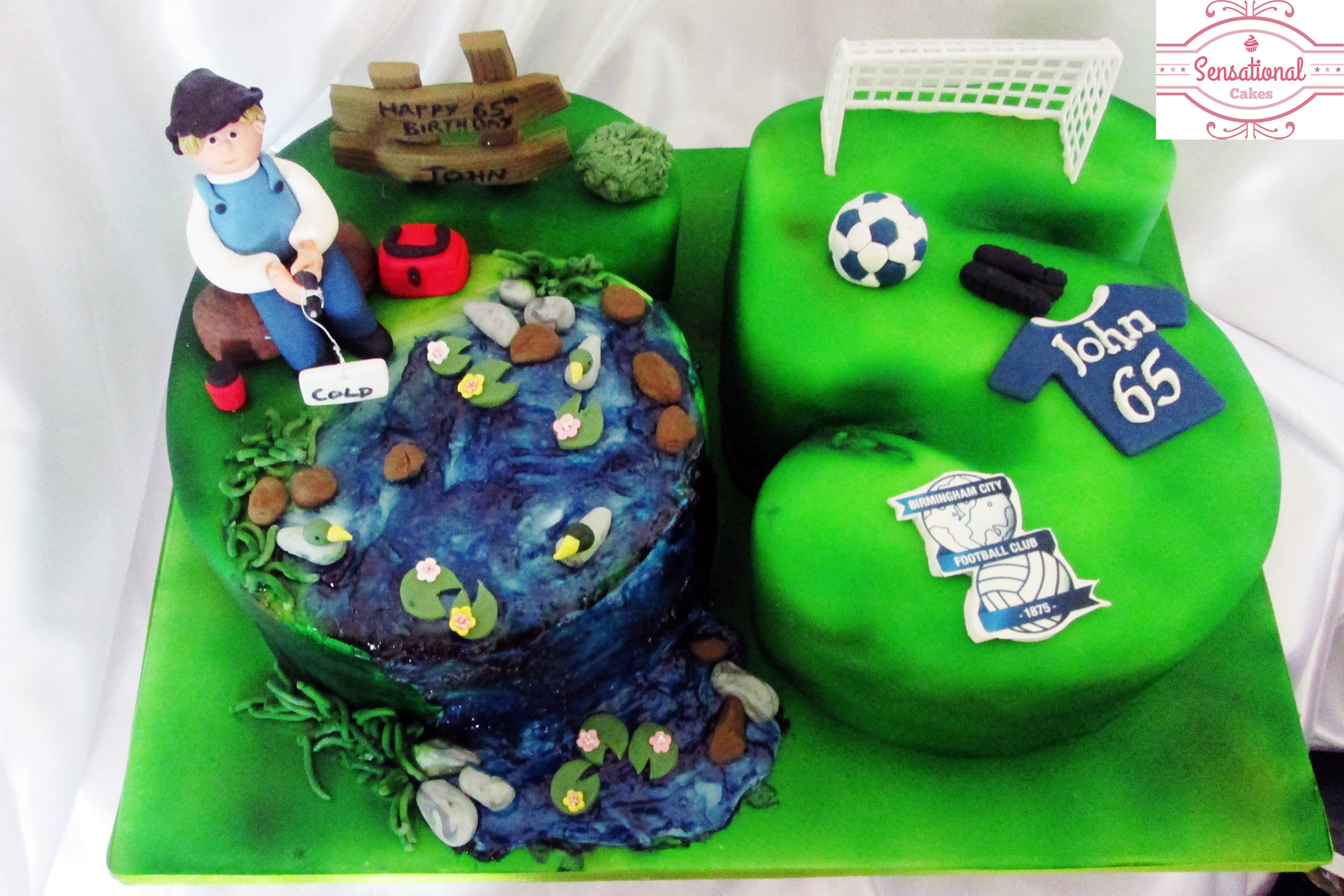 Magnificent 65Th Fishing Birthday Cake Sensational Cakes Funny Birthday Cards Online Alyptdamsfinfo