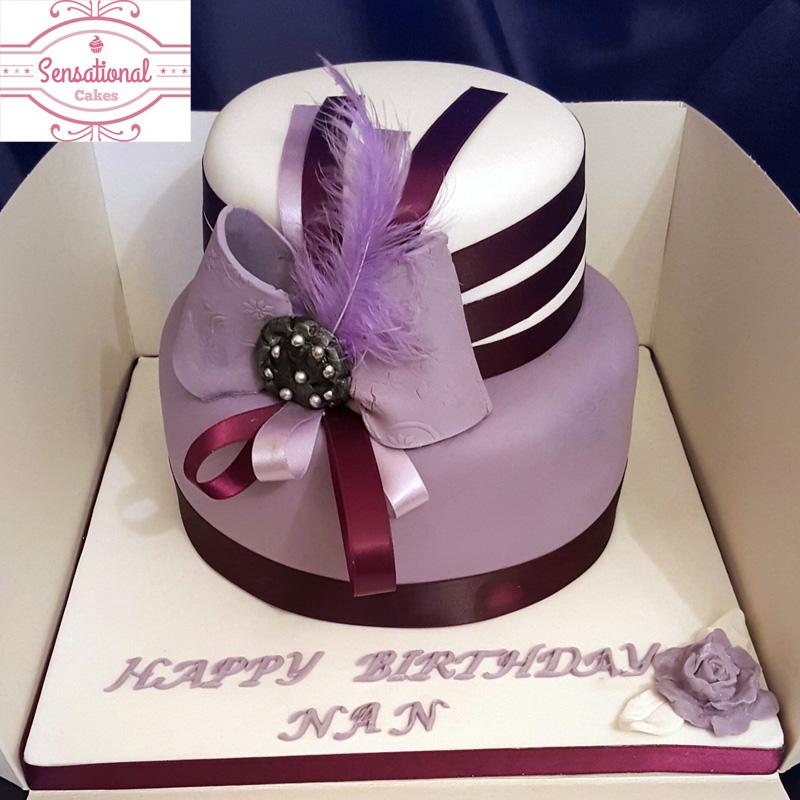 Tremendous Hat Cake Sensational Cakes Personalised Birthday Cards Sponlily Jamesorg