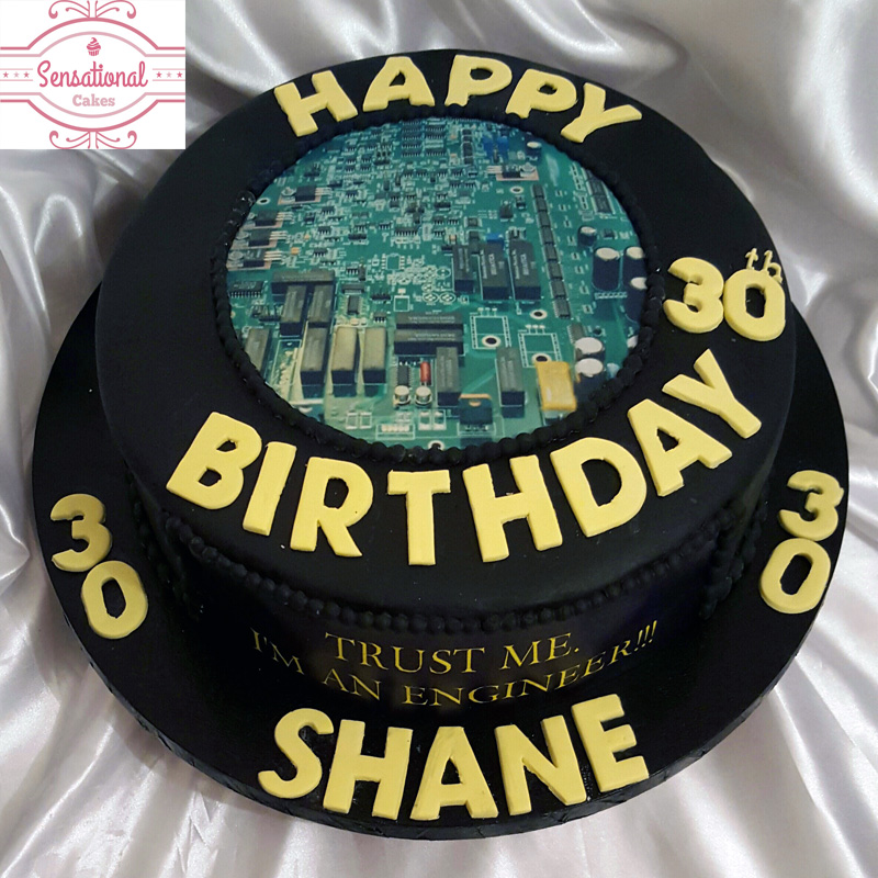 Fine Mens 30Th Birthday Cake Sensational Cakes Funny Birthday Cards Online Elaedamsfinfo