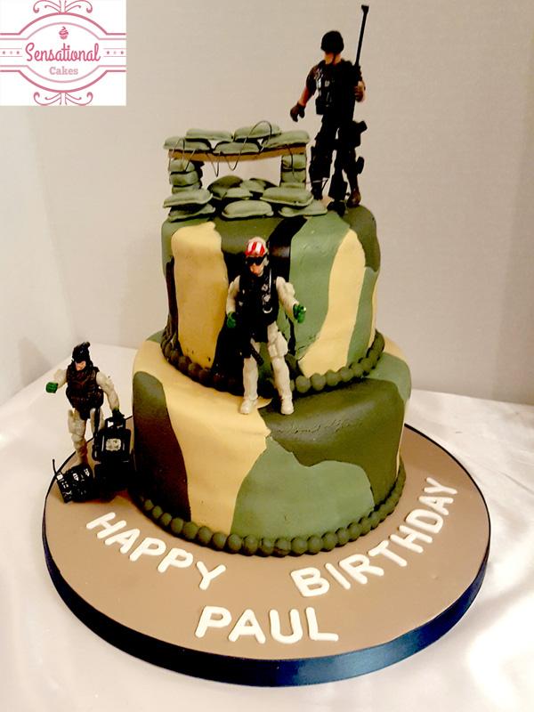 Marvelous Military Birthday Cake Sensational Cakes Personalised Birthday Cards Paralily Jamesorg