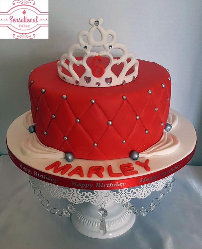 Wondrous Tiara Birthday Cake Sensational Cakes Funny Birthday Cards Online Amentibdeldamsfinfo
