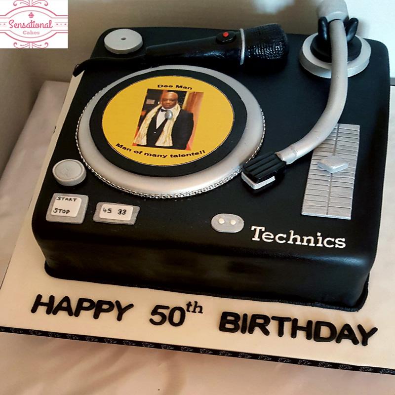 Pleasing Dj Birthday Cake Sensational Cakes Personalised Birthday Cards Cominlily Jamesorg