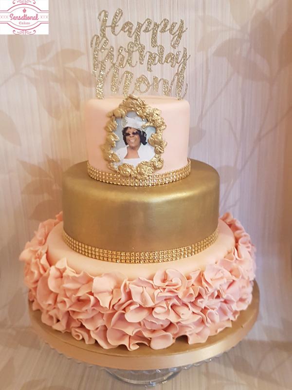 Strange 3 Tier Mom Birthday Cake Sensational Cakes Personalised Birthday Cards Paralily Jamesorg