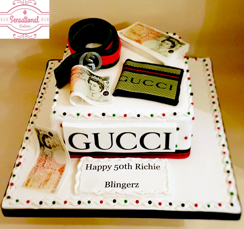 Men\u0027s GUCCI Birthday cake , Sensational Cakes