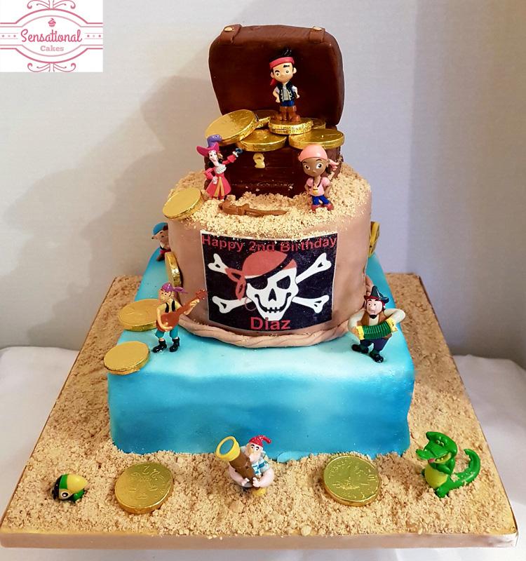 Superb Pirate Birthday Cake Full View Sensational Cakes Personalised Birthday Cards Rectzonderlifede