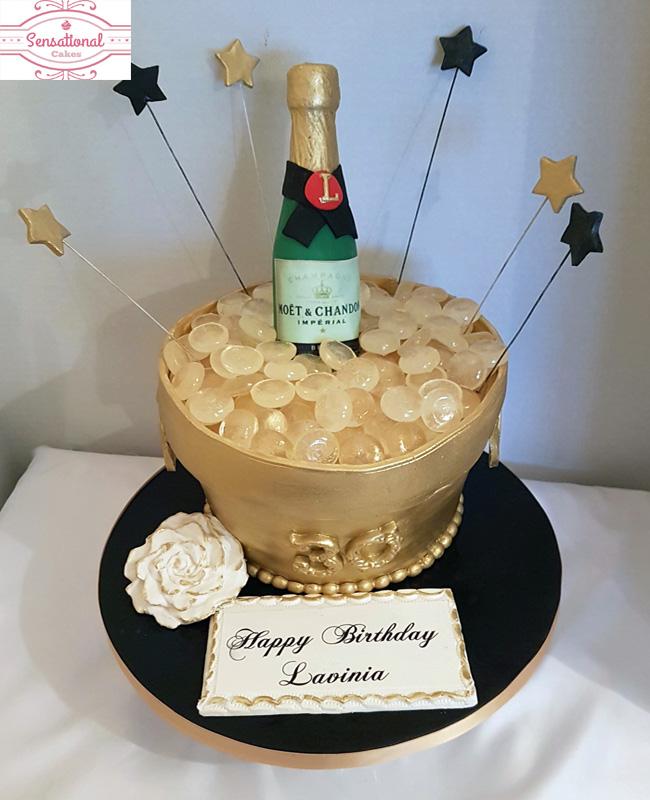 Outstanding 30Th Birthday Champagne Ice Bucket Cake Sensational Cakes Funny Birthday Cards Online Hetedamsfinfo