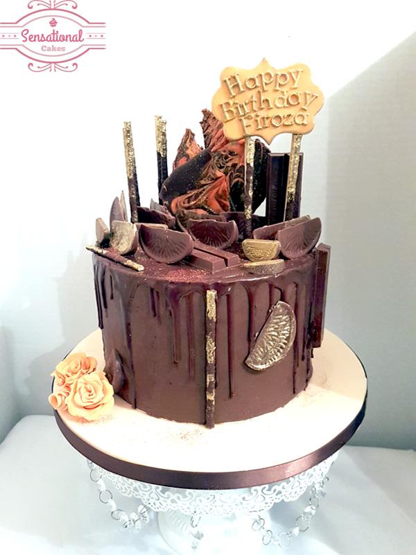 Cool Chocolate Orange Drip Cake Sensational Cakes Funny Birthday Cards Online Aeocydamsfinfo