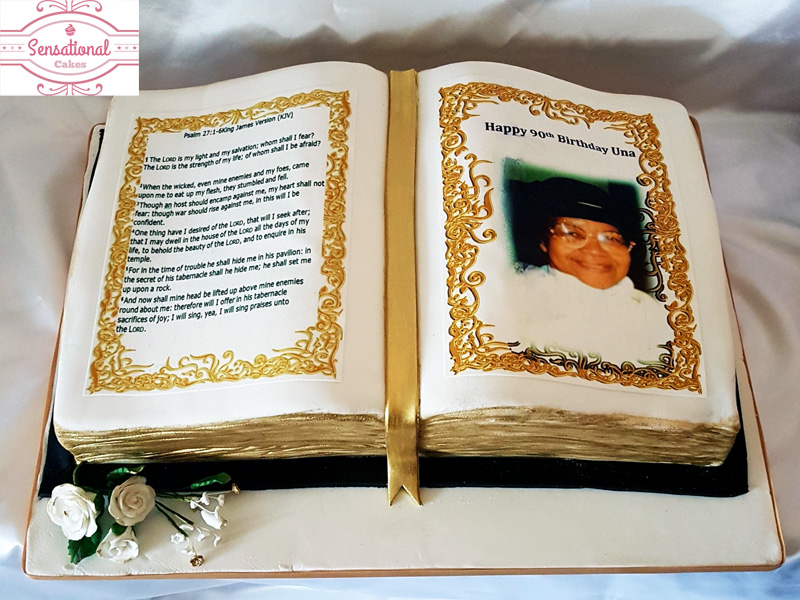 Incredible Open Book 90Th Birthday Cake Sensational Cakes Funny Birthday Cards Online Inifofree Goldxyz