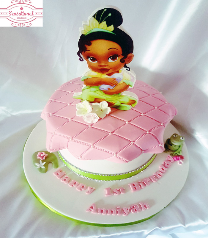 Remarkable Princess And The Frog Birthday Cake Sensational Cakes Personalised Birthday Cards Epsylily Jamesorg