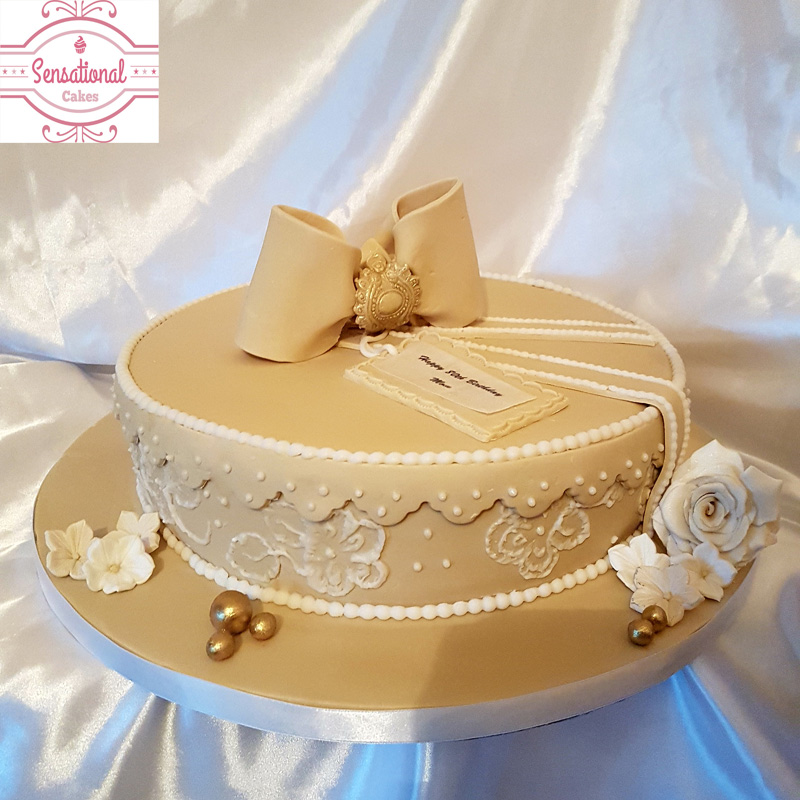 Tremendous Hat Box Cake Gift Box 80Th Birthday Cake Sensational Cakes Personalised Birthday Cards Sponlily Jamesorg