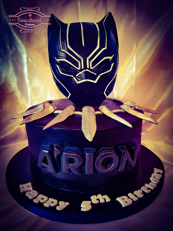 Prime Marvel Black Panther Birthday Cake Sensational Cakes Funny Birthday Cards Online Elaedamsfinfo