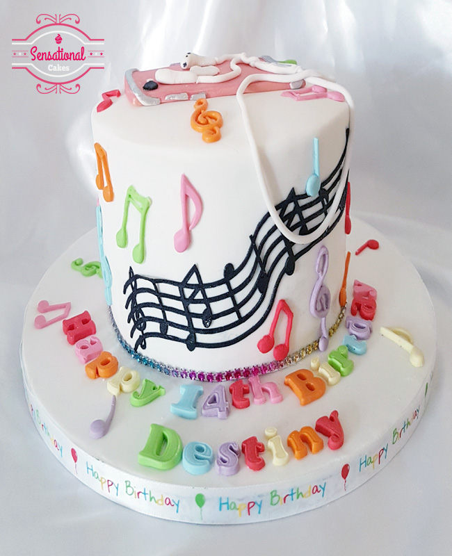 Peachy Musical Notes And Iphone Birthday Cake Sensational Cakes Funny Birthday Cards Online Aeocydamsfinfo